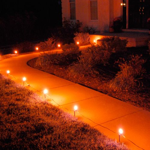 LumaBase Orange Pathway Lights