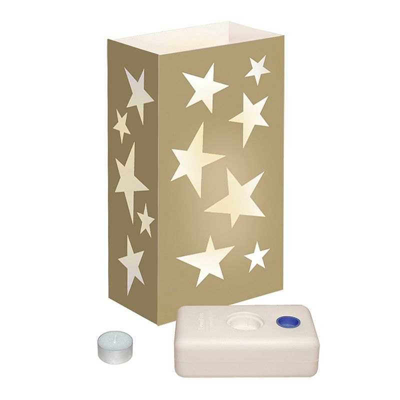 LumaBase 12-pk. Star Tealight Candle Luminarias