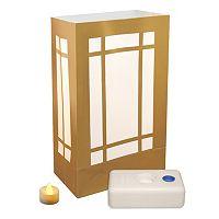 LumaBase 12-pk. Lantern Flameless Tealight Candle Luminarias - Indoor & Outdoor