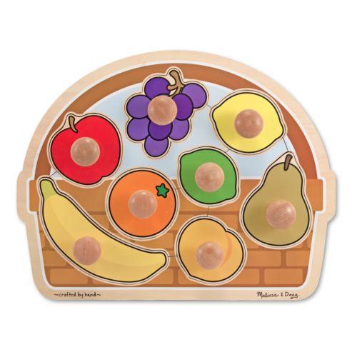 Melissa and Doug Fruit Basket Jumbo Knob Puzzle