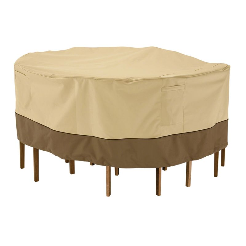 Outdoor Classic Accessories 56-in. Patio Table Chair Cover, Brown