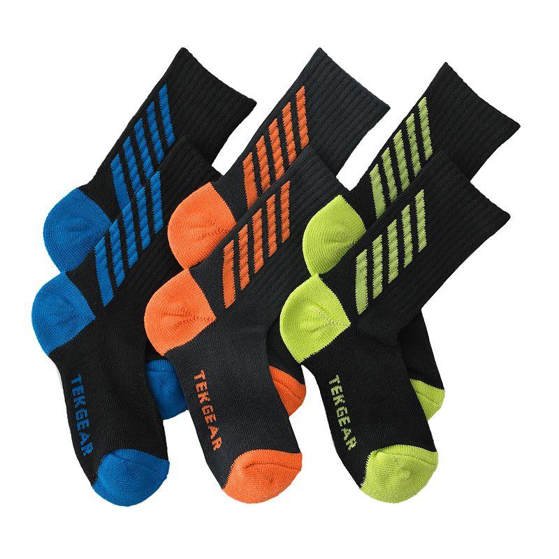 Boys 8-20 Tek Gear® 3-pk. Crew Socks