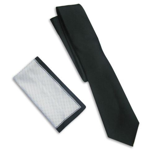 Haggar® Solid Tie & Pocket Square