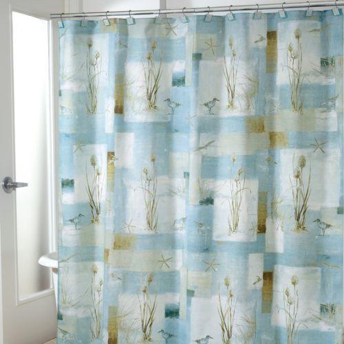 Avanti Blue Waters Fabric Shower Curtain