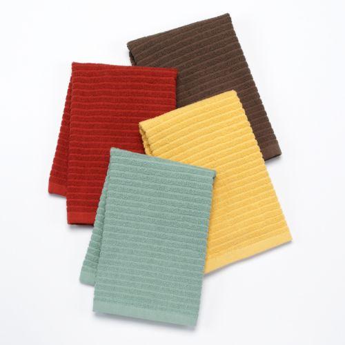 Bobby Flay™ Solid 4-pk. Bar Mop Kitchen Towels