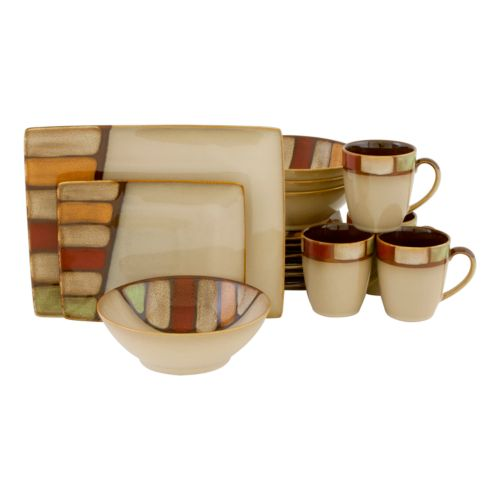 Sango Elements Brown 16-pc. Dinnerware Set