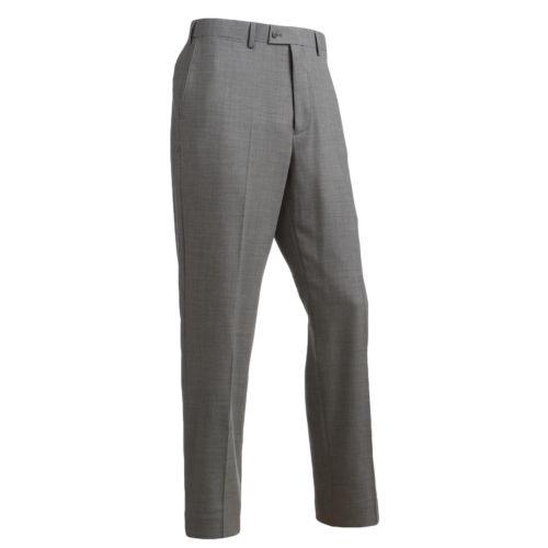 Louis Raphael Straight-Fit Four-Way Stretch Wool Blend Flat-Front Dress Pants