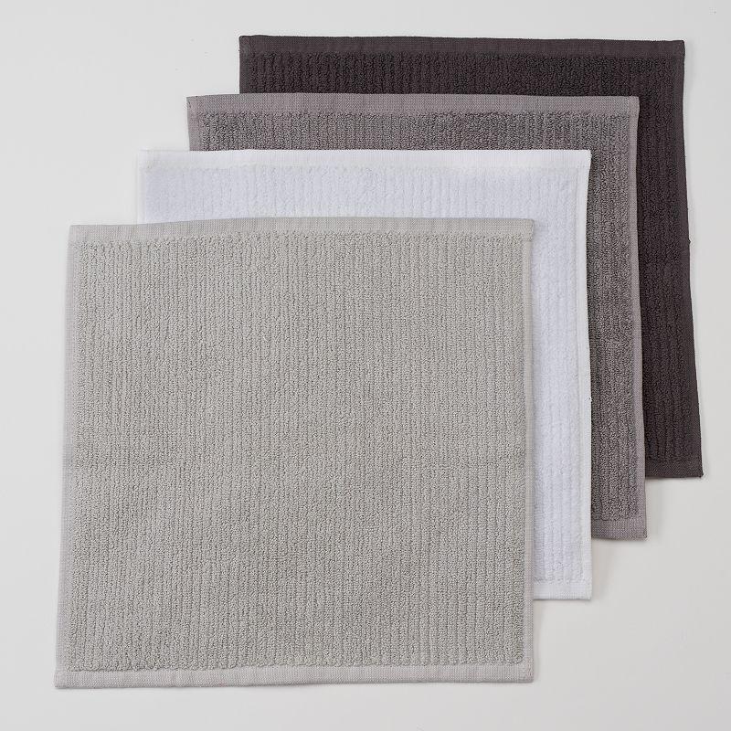 Food Network™ Solid 4-pk. Antimicrobial Bar Mop Dishcloths