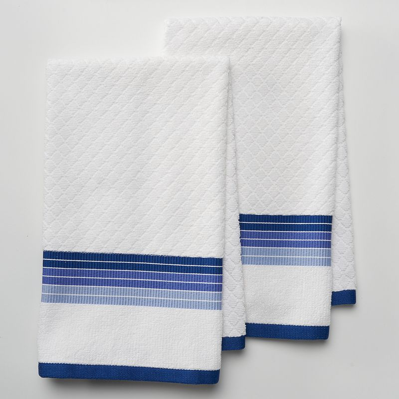 Food Network Ombre Pk Antimicrobial Kitchen Towels