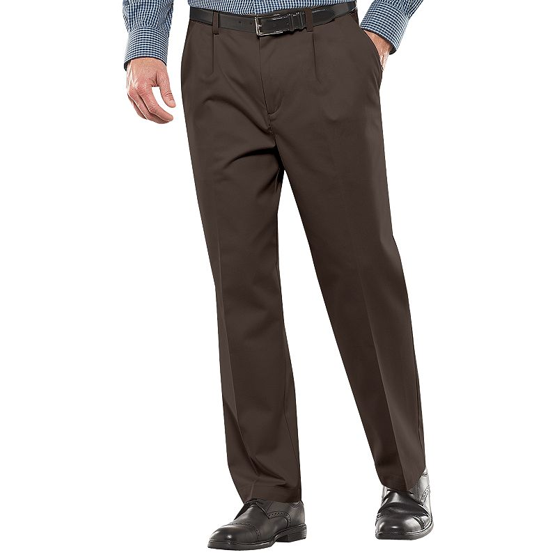 Big & Tall Croft & Barrow® Classic-Fit Easy-Care Pleated Pants -