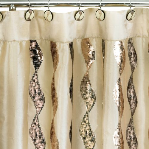 Popular Bath Shimmer Fabric Shower Curtain