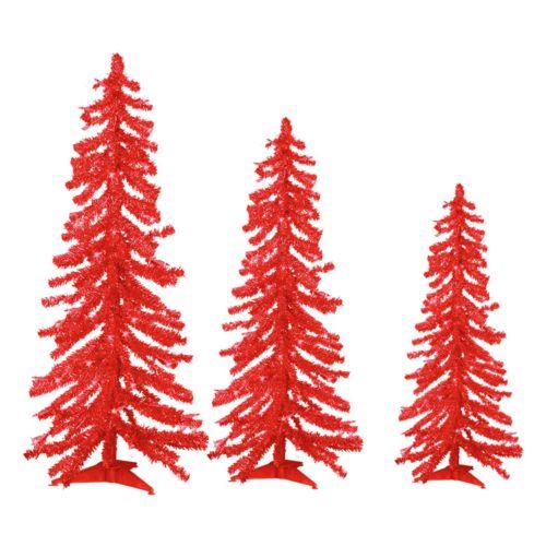 Sterling 3-pc. Alpine Pre-Lit Tinsel Artificial Christmas Tree Set