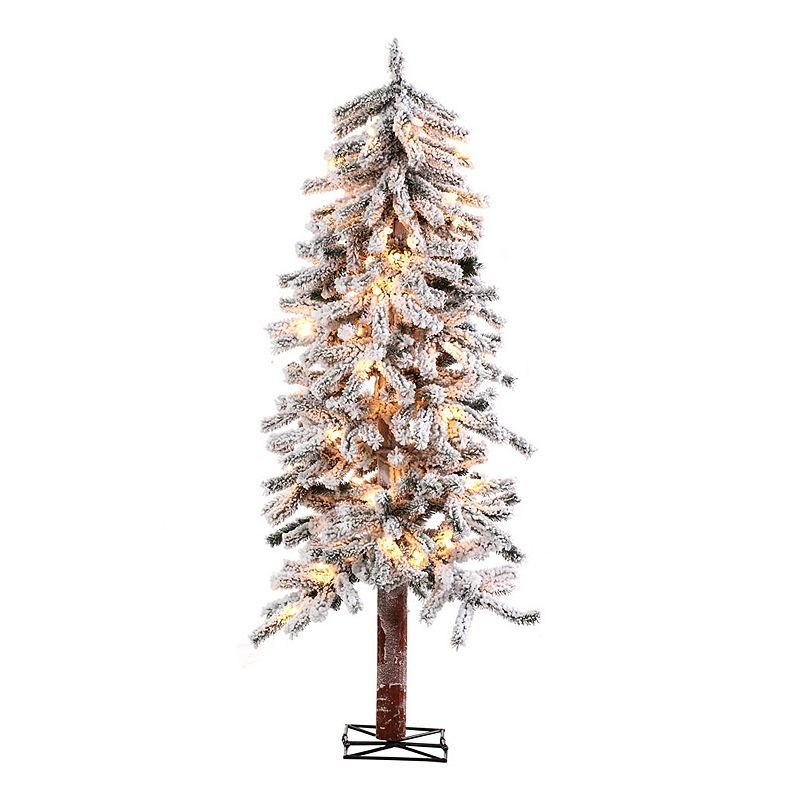 Sterling 6-Ft. Flocked Alpine Pre-Lit Artificial Christmas Tree