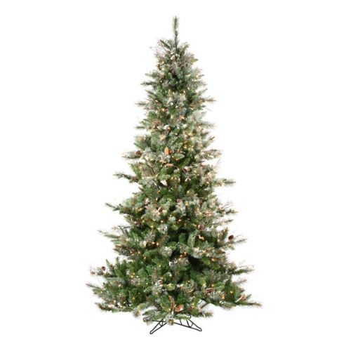 Sterling 7 1/2-ft. Pre-Lit Frosted Artificial Christmas Tree