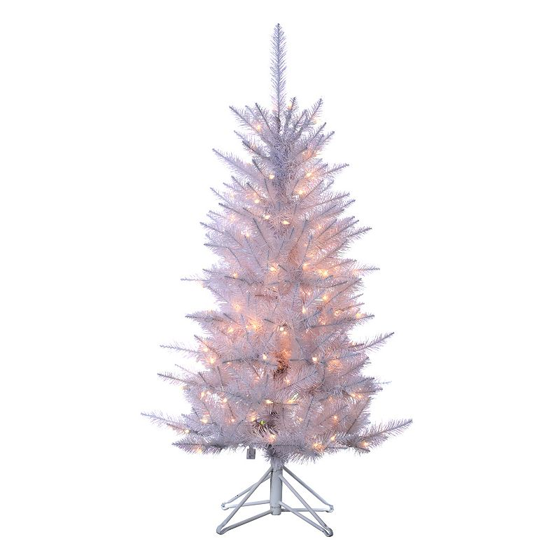 Sterling 4-ft. Pre-Lit Tinsel Artificial Christmas Tree