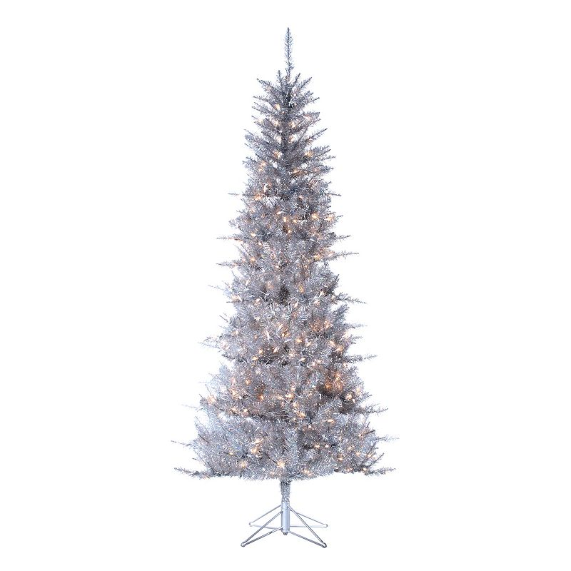 Sterling 7 1/2-ft. Pre-Lit Tinsel Artificial Christmas Tree