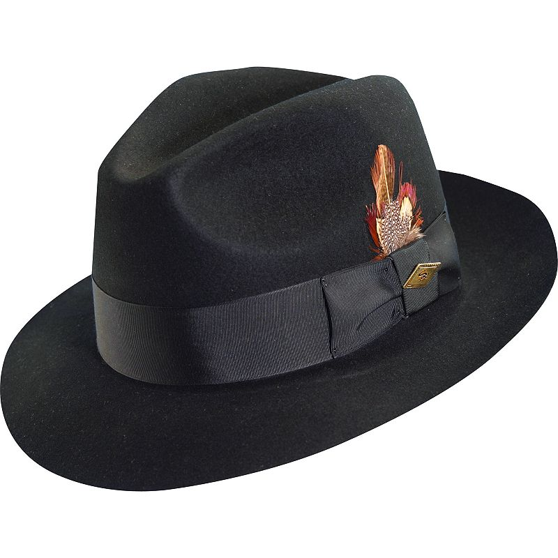 Stacy Adams Feathered Fedora