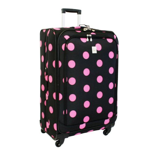 Jenni Chan Dots 28-Inch Spinner Luggage