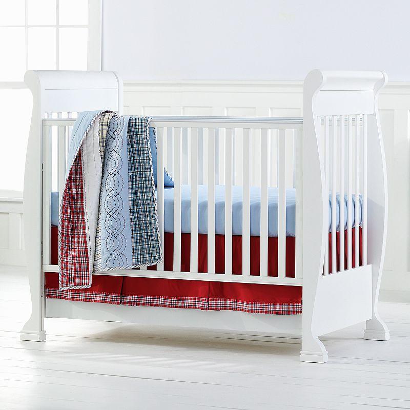 Bacati 4-pc. Stripes and Plaids Crib Set