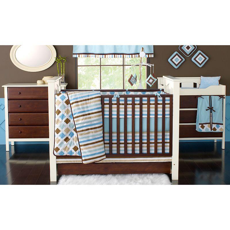 Bacati 10-pc. Mod Diamonds and Stripes Crib Set