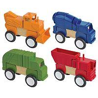 Guidecraft Construction Vehicles Block Mates