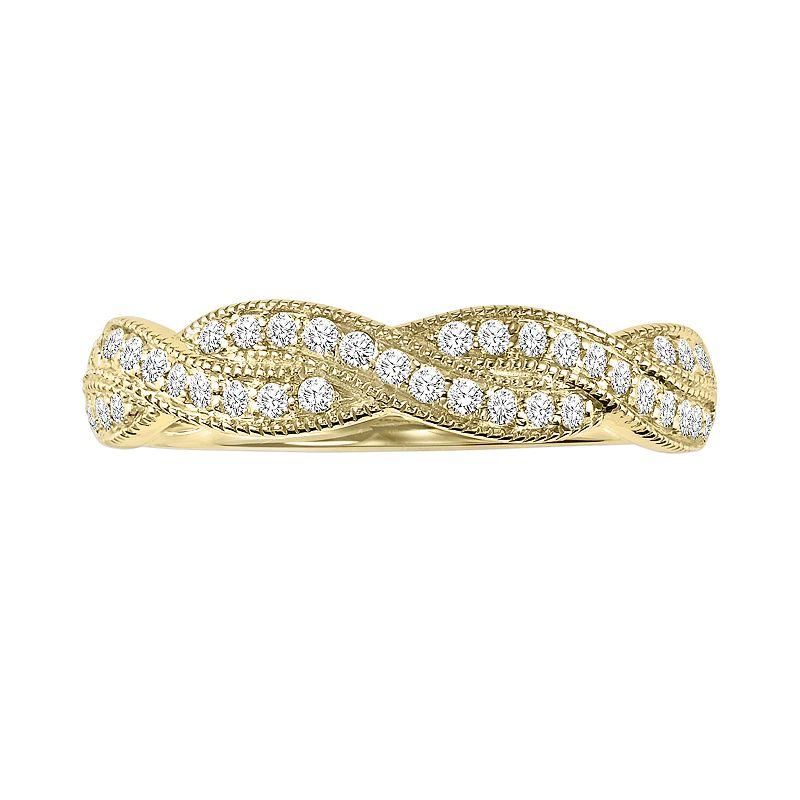 Simply Vera Vera Wang 14k Gold 1/3-ct. T.W. Diamond Twist Wedding Ring