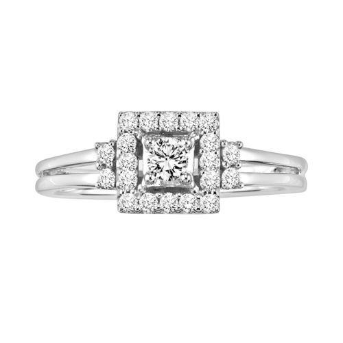 Simply Vera Vera Wang Diamond Halo Engagement Ring in 14k White Gold (1/3-ct. T.W.)