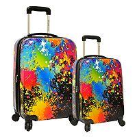Traveler's Choice Paint Splatter 2-Piece Hardside Spinner Luggage Set
