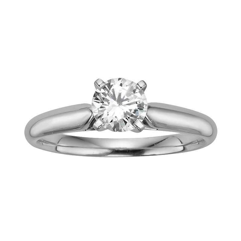 Round-Cut IGL Certified Diamond Solitaire Engagement Ring in 14k White Gold (3/4 ct. T.W.)
