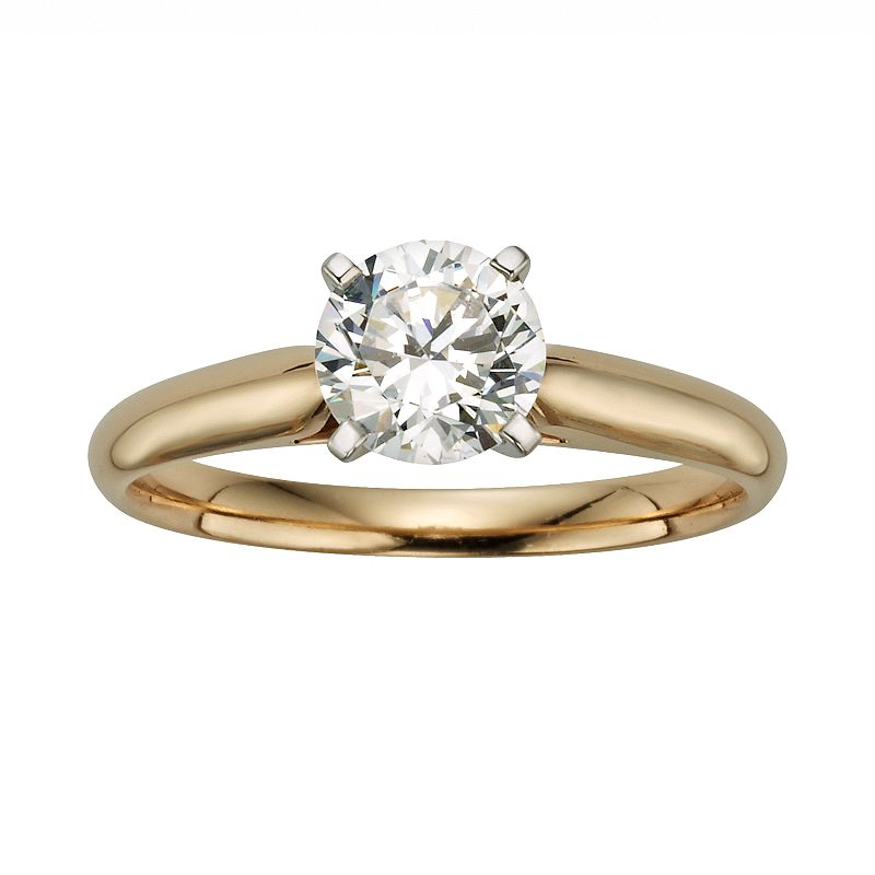 Round-Cut IGL Certified Diamond Solitaire Engagement Ring in 14k Gold (1 ct. T.W.)