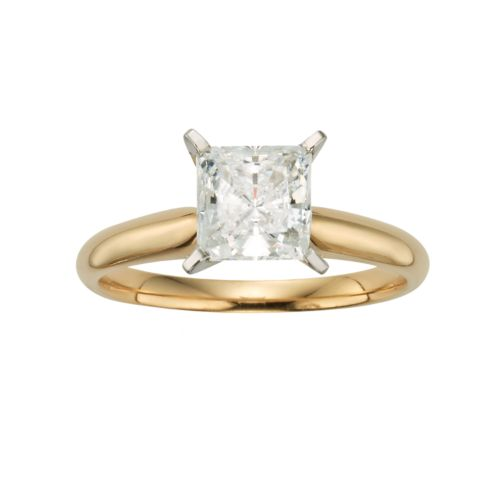 Princess-Cut IGL Certified Diamond Solitaire Engagement Ring in 14k Gold (1 1/2 ct. T.W)