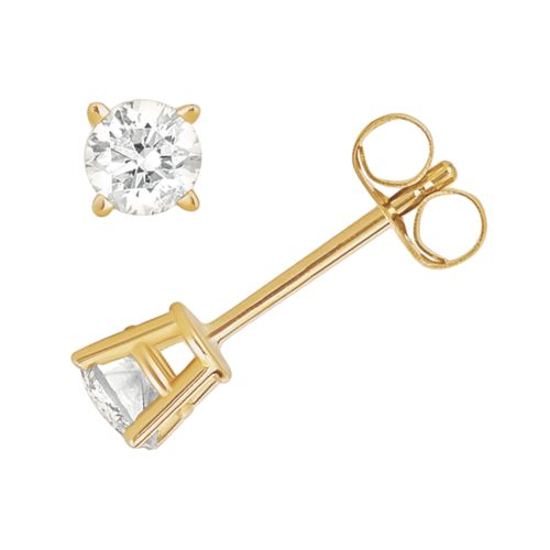 14k Gold 3/8-ct. T.W. Diamond Solitaire Stud Earrings