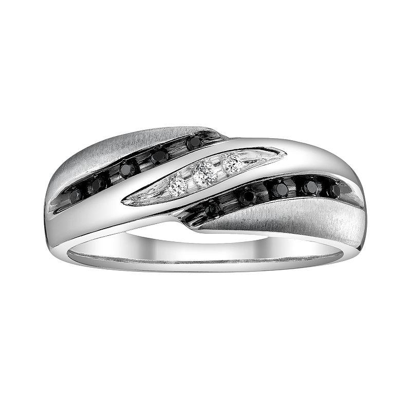 Platina 4 1/7-ct. T.W. Black and White Diamond Wedding Ring - Men