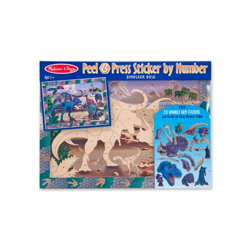 Melissa and Doug Dino Dusk Peel & Press Sticker by Numbers