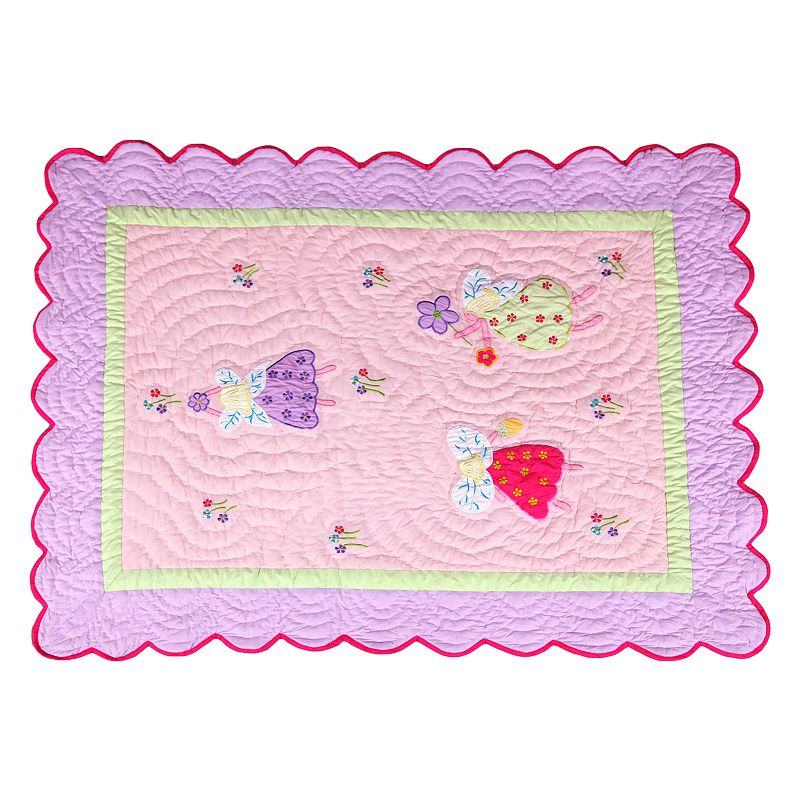 Bacati Fairy Land Oversized Toddler Bed Quilt