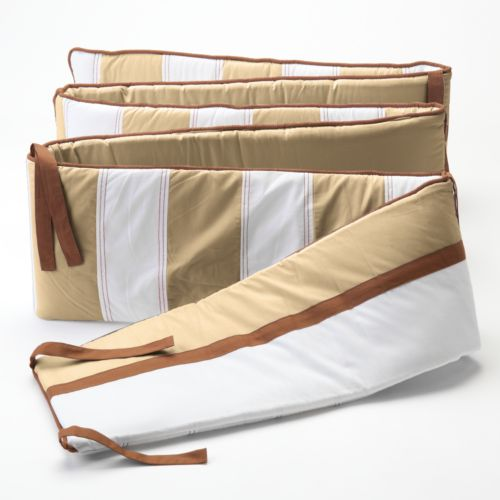 Bacati Metro Khaki Crib Bumper