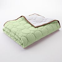 Bacati Quilted Lime & Chocolate Circles Quilt