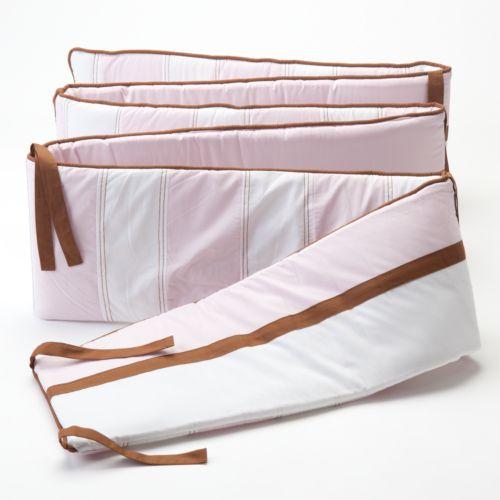 Bacati Metro Pink Crib Bumper