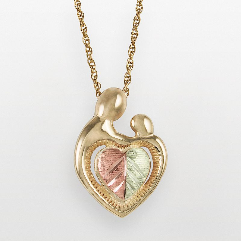 Black Hills Gold Tri-Tone Motherly Love Pendant