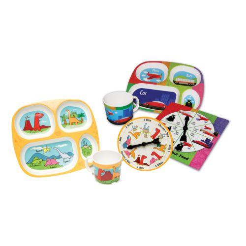 Daydream Toy Play With Your Food Transportation/ Dinosaur Plate Sets