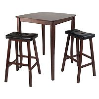 Winsome Inglewood Pub Dining Table & Padded Stool Set