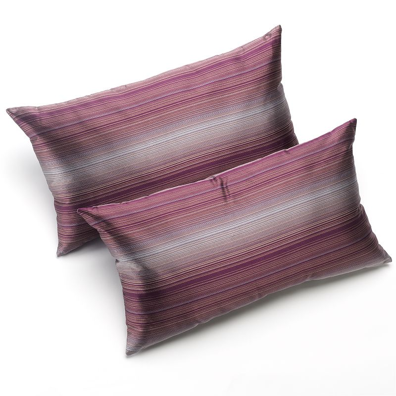 HOME CLASSICS STRIPED 2-PK. DECORATIVE PILLOWS (PURPLE)