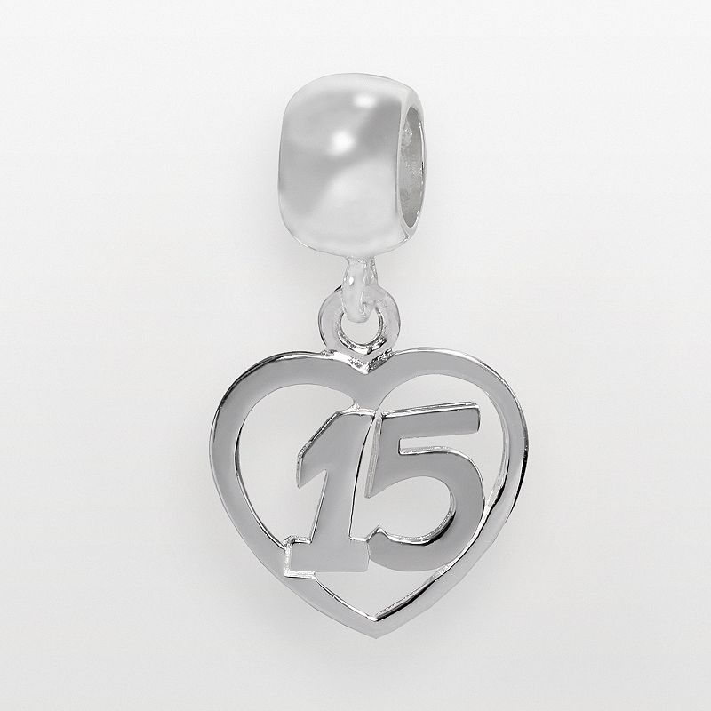 Individuality Beads Sterling Silver 15 Heart Charm