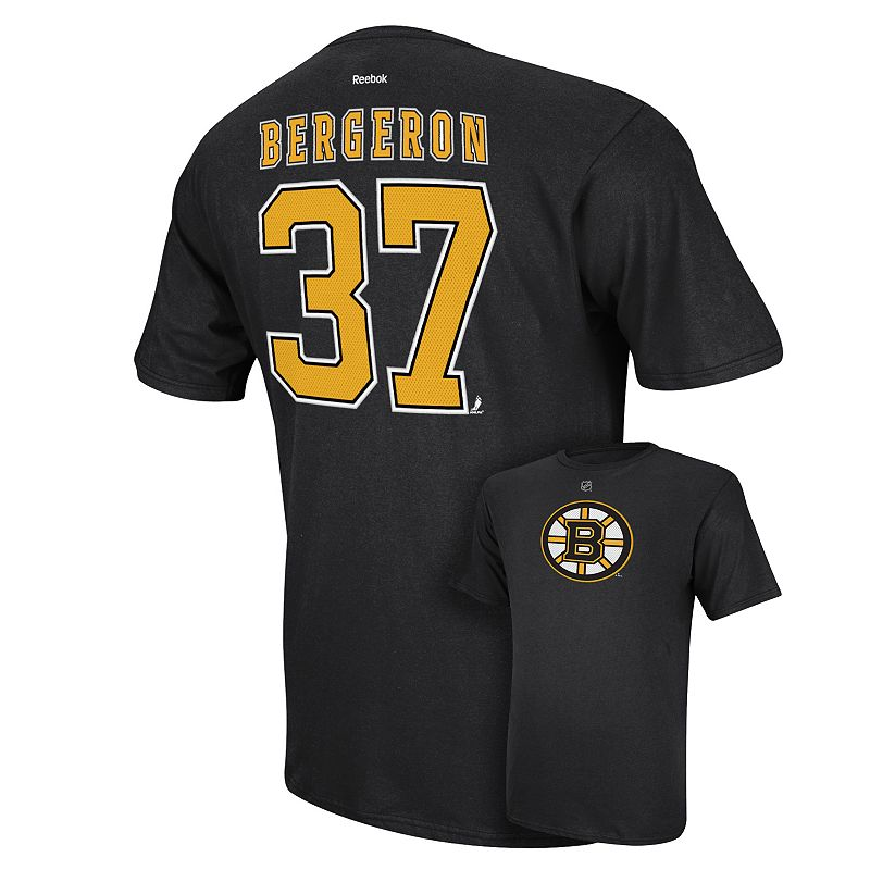 Men's Reebok Boston Bruins Patrice Bergeron Player Tee