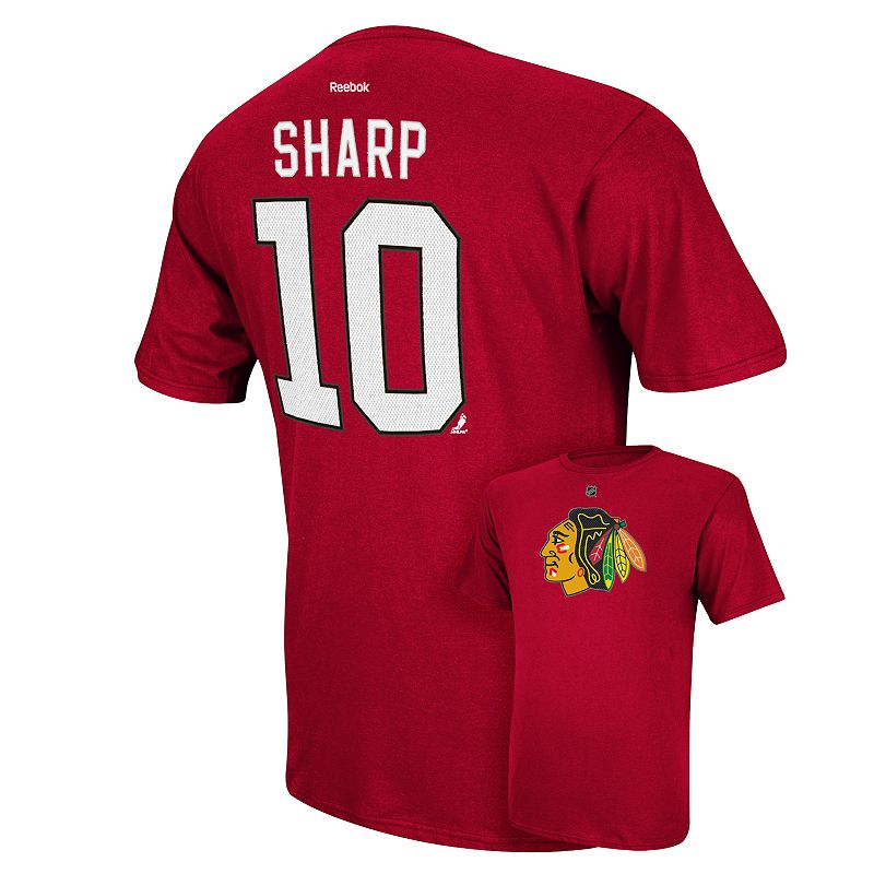 Men's Reebok Chicago Blackhawks Patrick Sharp Player Tee