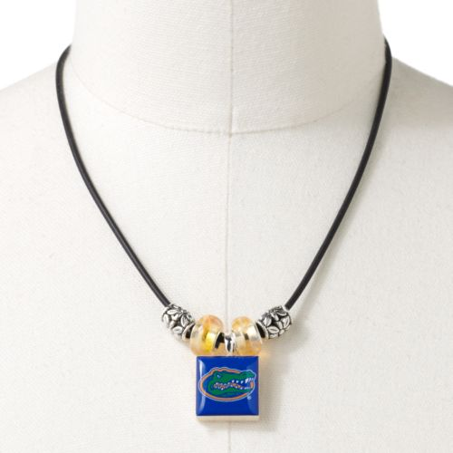 Florida Gators Silver Tone Logo Tile Pendant