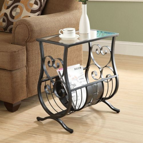 Monarch Heart Magazine End Table