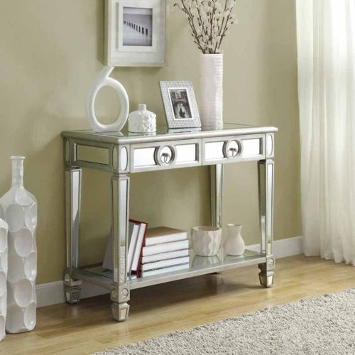 Monarch Mirrored 2-Drawer Console Table