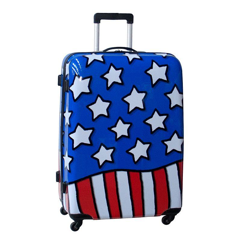 Ed Heck Stars N' Stripes 28-Inch Hardside Spinner Luggage