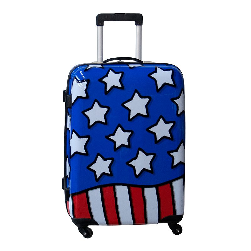 Ed Heck Stars N' Stripes 25-Inch Hardside Spinner Luggage